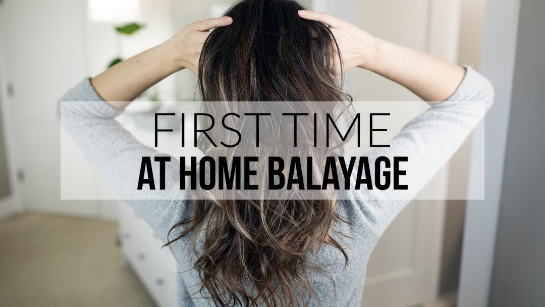 First Time At Home Balayage