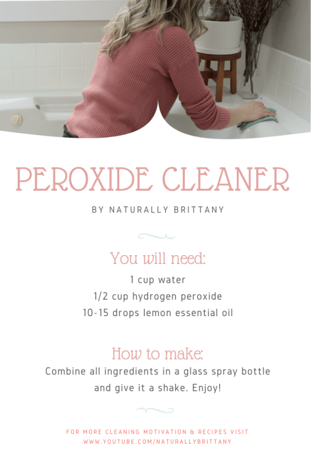 NaturallyBrittany Peroxide Cleaner