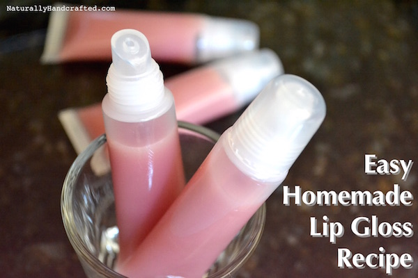 easy homemade lip gloss recipe