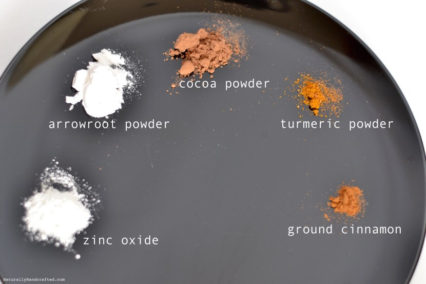 ingredients for homemade powder foundation recipe