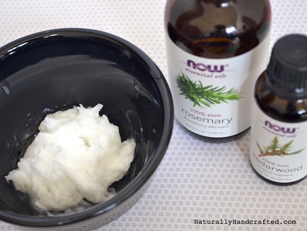 add essential oil for diy hair growth mask