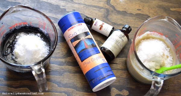 Add Sea Salt and Essential Oil to Activated Charcoal Soap