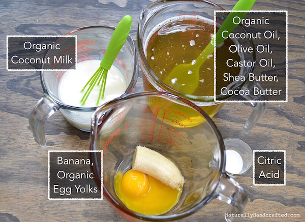 ingredients for palm-free shampoo bar