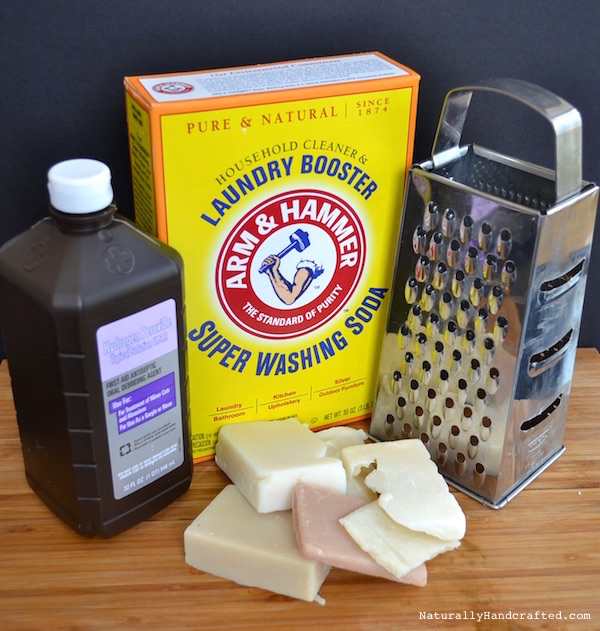 ingredients for homemade laundry detergent without borax