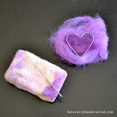 felting diy felted soap