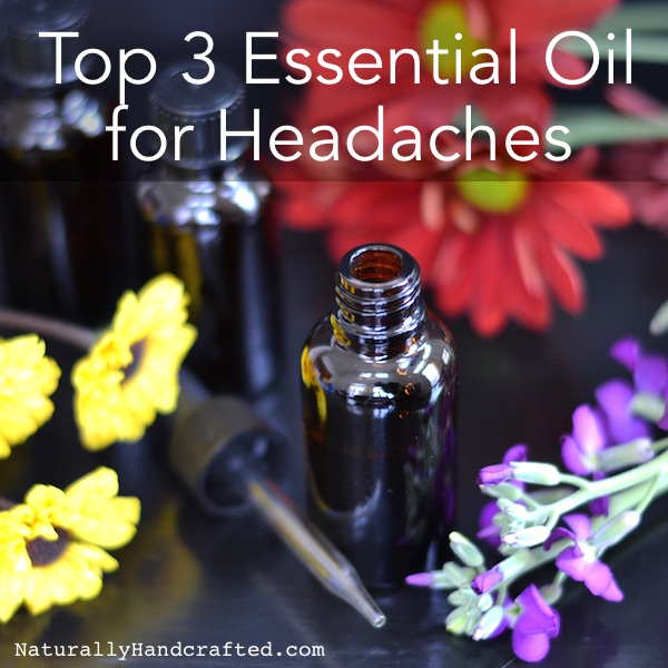 3 bottles of essential oil for headaches