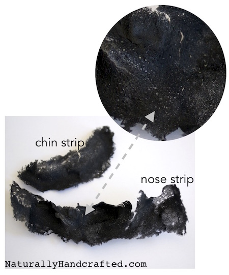 Charcoal Blackhead Mask Close Up Results