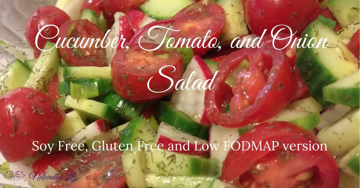 Cucumber, Tomato, and Onion Salad (Low Fodmap)