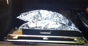 Smoker Box and Smoker Pouch preheating on grill