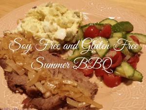 Summer BBQ Menu soy free, gluten free