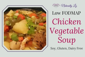 Low FODMAP Chicken Vegetable Soup
