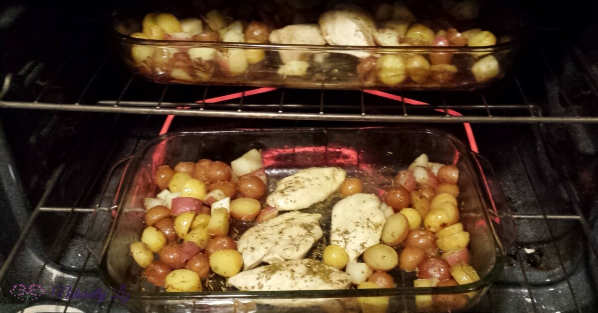 Roasting Low Fodmap Lemon Rosemary Chicken with Roasted Potatoes