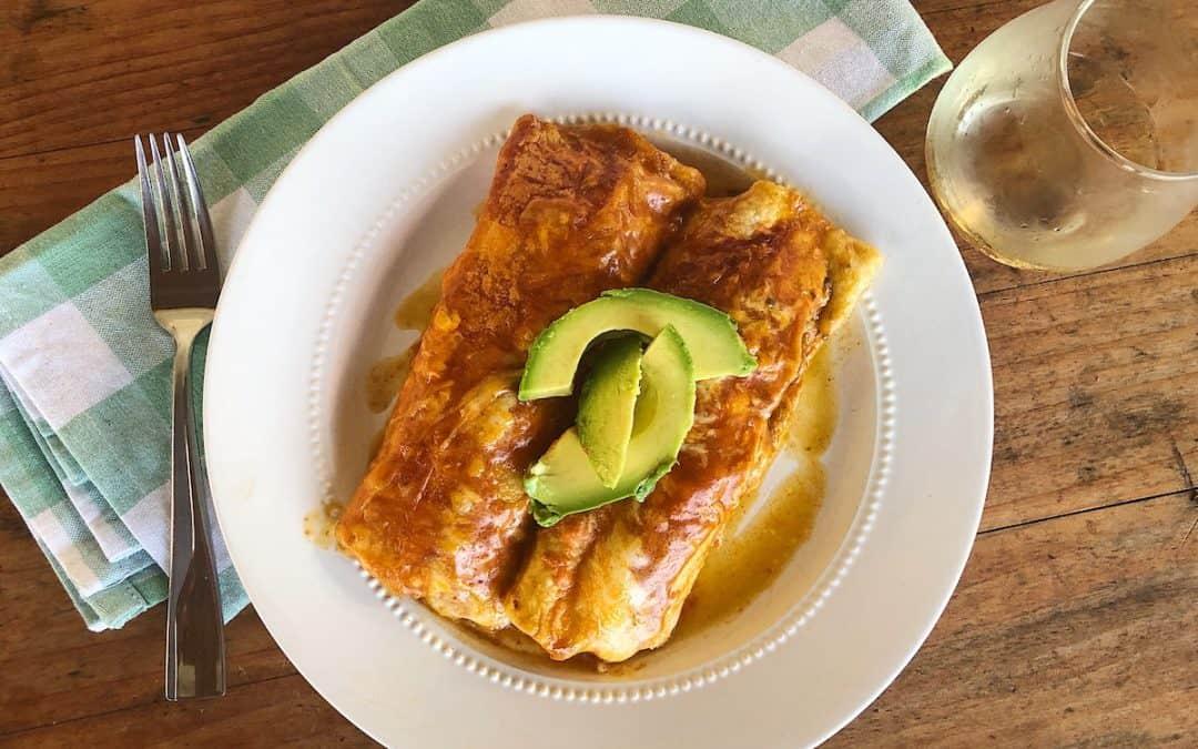 Best Ever Instant Pot Chicken Enchiladas