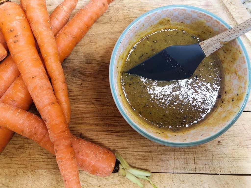 Honey mustard glazed oven roasted carrot fries