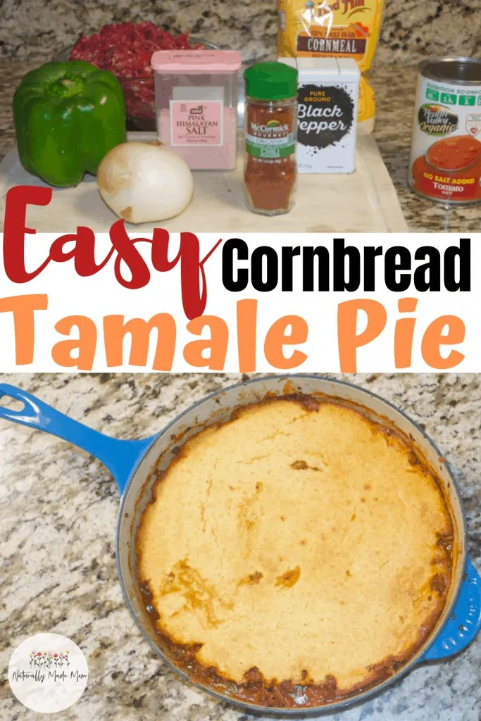 Tamale pie is naturally gluten free and a delicious one pot dinner that the family will love. You can make this recipe in about 20 minutes. #tamalepierecipe
