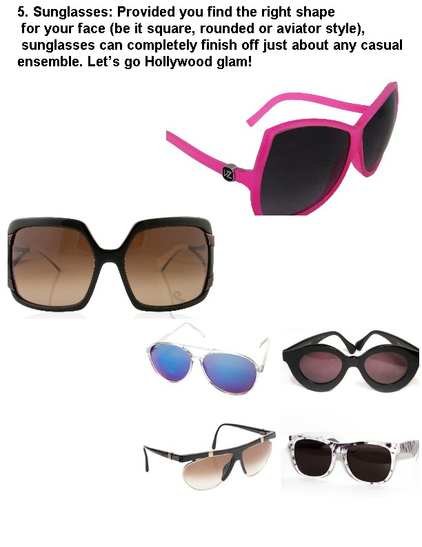 5 sunglasses