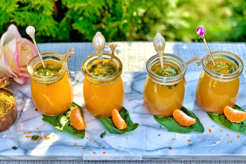 Southern Spiced Orange Rasam - Featuring a light, sweet and sour flavor with spiced undertones, this rasam is packed full of antioxidants and immune boosters! Rasam is truly like a superfood. With turmeric and black pepper to keep that immune system healthy, antioxidants that tighten your skin, and spices that increase your metabolism, it's the perfect medley of spice and nutrition.