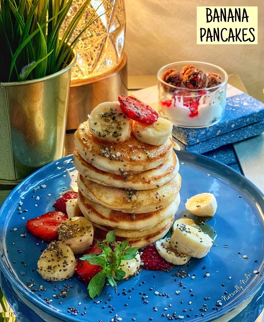 When you're wanting to start your day off right, there's nothing like banana pancakes for a clean, easy breakfast! Whip these beauties up with a few simple ingredients, cook till golden brown, and enjoy with the sugary goodness of some maple syrup!