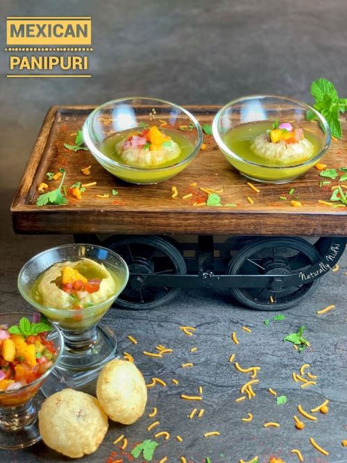 With a fresh mango salsa and spicy water, this sweet and tangy Mexican Pani Puri is a treat to eat!Try these Gol Gappe this summer as a simple lunch or easy entertaining meal and savour the delicious in-season mangoes.