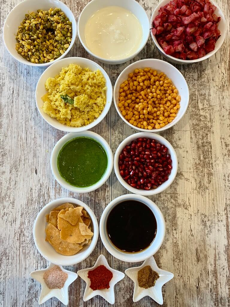 7-Layer-Dahi-Chaat-Ingredients