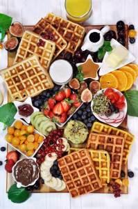 Sweet Savory Waffle Brunch Board