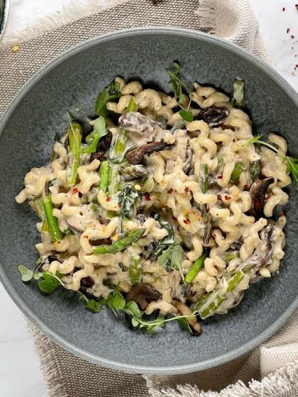 Vegan Cashew Cream Pasta
