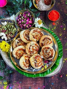 Coconut Thandai Rolls