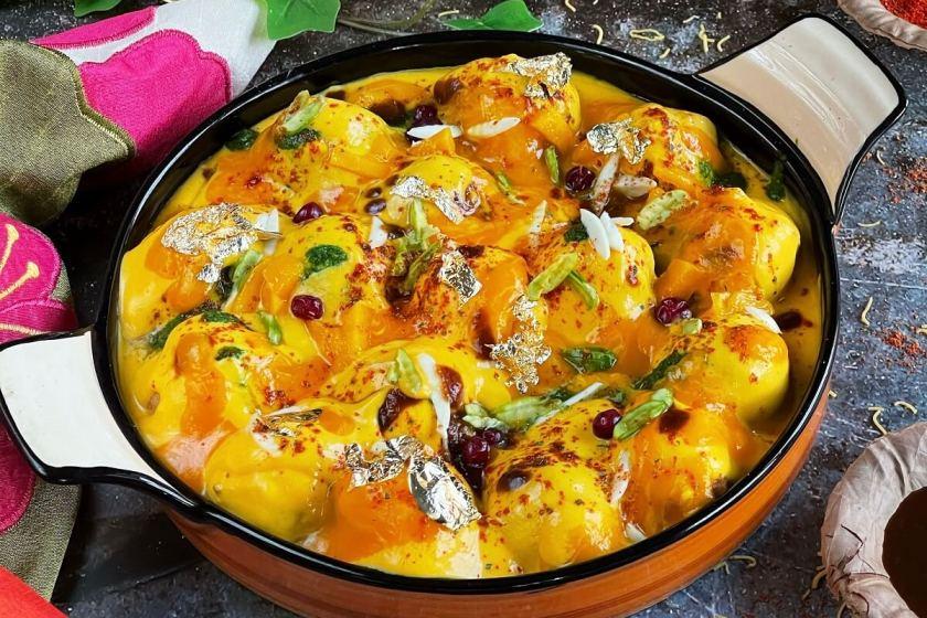 Shahi Mango Dahi Vada