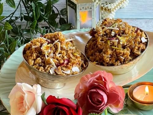 Badam Roti Churma