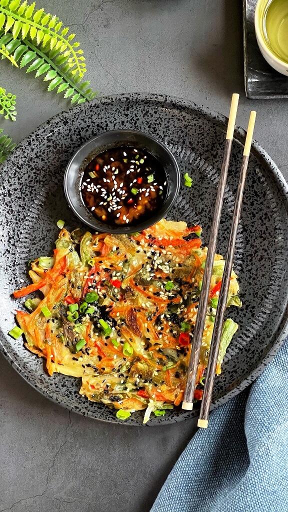 Korean Vegetable Pancake - Yachaejeon