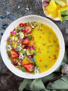Yellow Watermelon Gazpacho