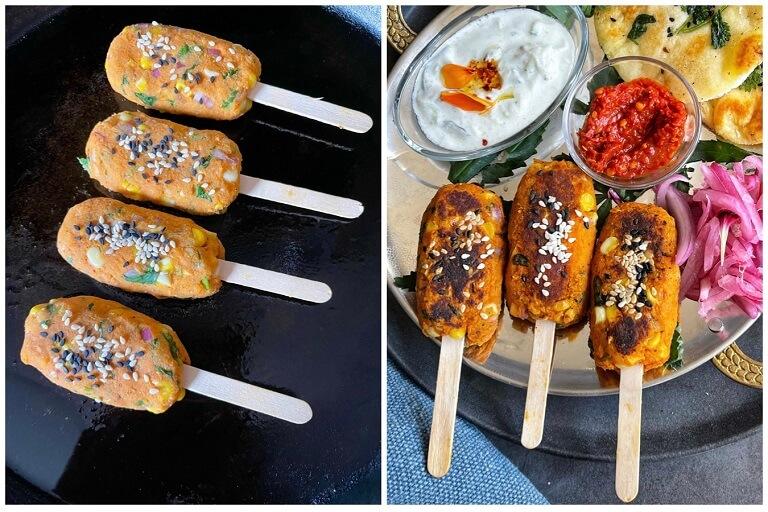 Sweet Potato Chickpea Kebabs