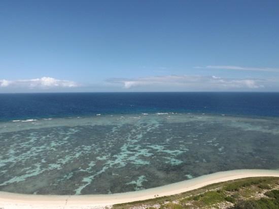 La vue sur le lagon depuis le phare