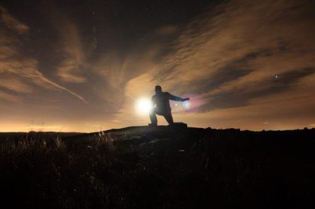 Mountain top posing. © Angus Lothian