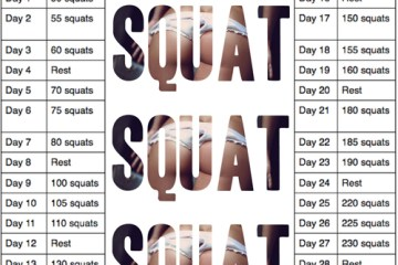 fitness, squat, challenge, 30 day, butt, thighs