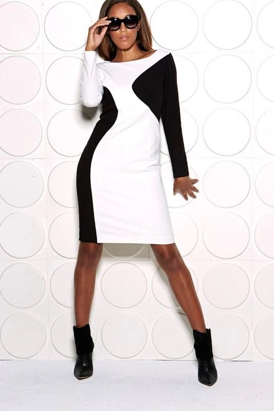 Belk, Tahari, Fashion, Fall, Colorblock, Black & White, New