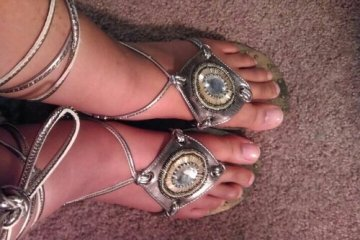 naturally stellar, sandals, thrift, shopping, shoes, summer, gladiator, jeweled, feet, fashion, pedi