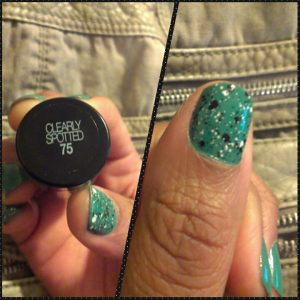 Maybelline, Color Show, Clearly Spotted, Naturally Stellar, Moody Manicure, Nail Files Linkup, Manicure Monday, Beauty, nail art, polka dots