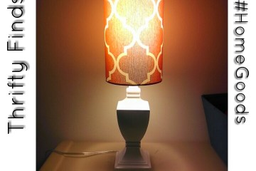 HomeGoods, Thrifty, Naturally Stellar, Shopping, Home Decor, Deals, Table Lamp
