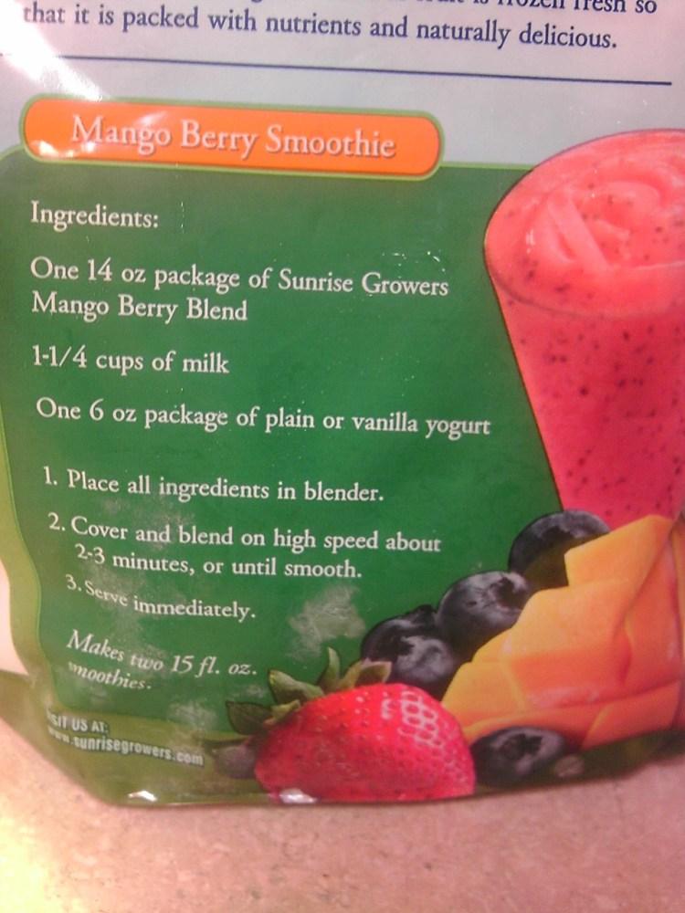 Mango Berry Smoothie Recipe