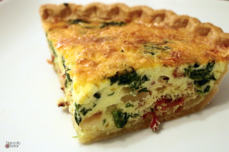 The Perfect Spinach Bacon Quiche - Easy Entrees | Naturally Stellar