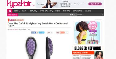 Does The Dafni Straightening Brush Work On Natural Hair?