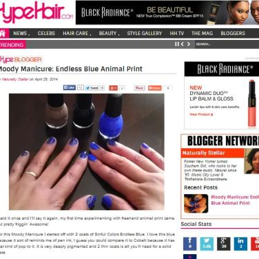 Press Feature On HypeHair.com Blogger Buzz April 2014.