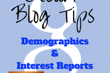 Google Analytics Demographics Reports