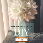 DIY Star   Chalk Painted Decor Jars and Accent Pieces