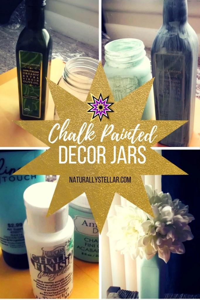 Chalk Painted Decor Jars   Naturally Stellar
