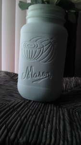 Chalk Painted Decor Jars