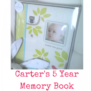 Carter's 5 Year Memory Book   Dreft Mother's Day Giveaway   Naturally Stellar