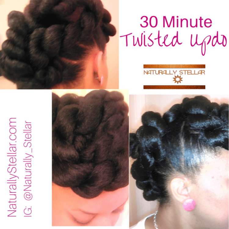 30 Minute Twisted Updo | Naturally Stellar