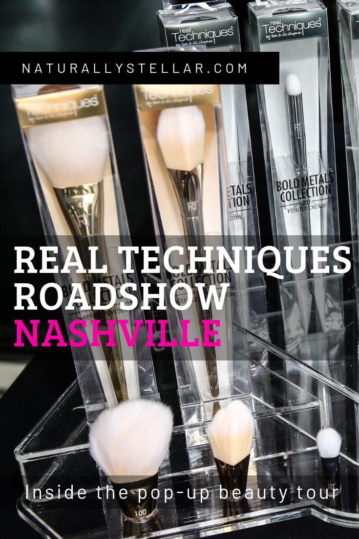 Real Techniques Bold Metals Collection Preview Pop Up Nashville | Naturally Stellar
